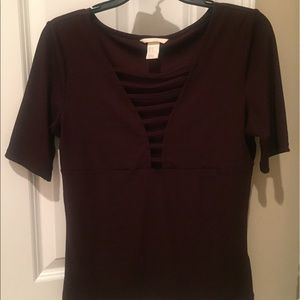 H&M BURGUNDY DRESS SHIRT